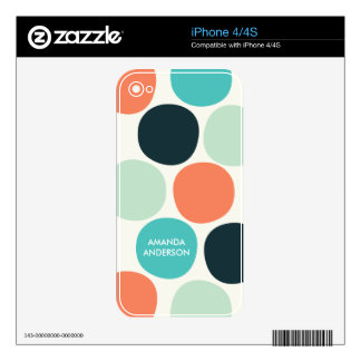 Big Summer Dots iPhone 4 Skin - personalized