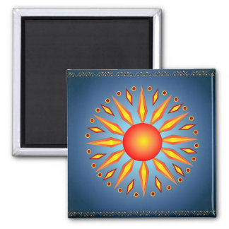 Big Summer Solstice Sun Magnet