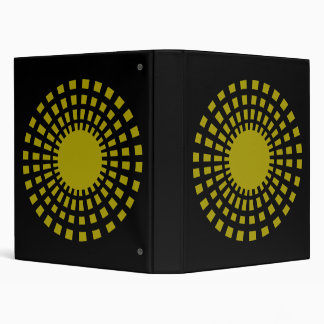 Big Sunburst Cutout Pattern On Black Background Binder