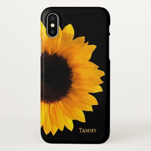 Big Sunflower iPhone X Case Phone Case