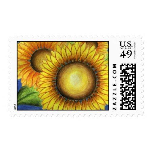 Big Sunflower Postage Stamp