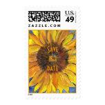 Big Sunflower Save the date Postage