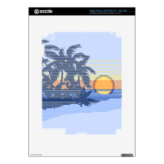 Big Sunset Hawaiian iPad 3 or Tablet Skin iPad 3 Decal