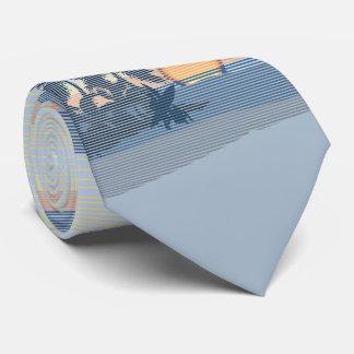 Big Sunset Hawaiian Island Two-sidedPrinted Tie