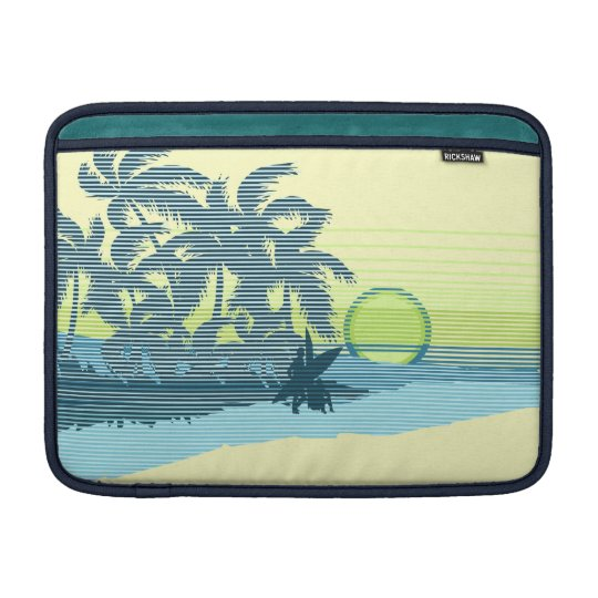 Big Sunset Hawaiian Rickshaw MacBook Case