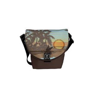 Big Sunset Hawaiian Rickshaw Mini Messenger Bag
