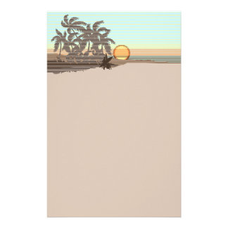 Big Sunset Hawaiian Stationary Personalized Stationery