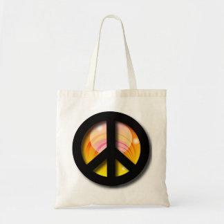 Big Sunset Peace Tote Bag