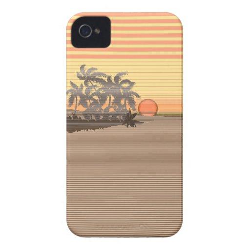 Big Sunset Stripe Hawaiian iPhone 4 Cases iPhone 4 Case