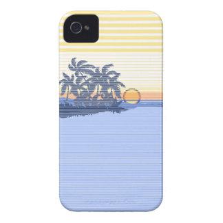 Big Sunset Stripe Hawaiian iPhone 4 Cases