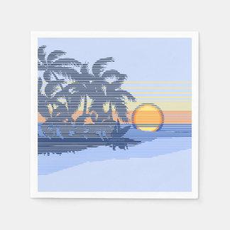 Big Sunset Stripe Hawaiian Surfer Standard Cocktail Napkin