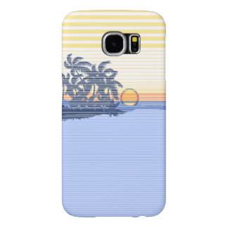 Big Sunset Stripe Hawaiian Surfer Samsung Galaxy S6 Cases