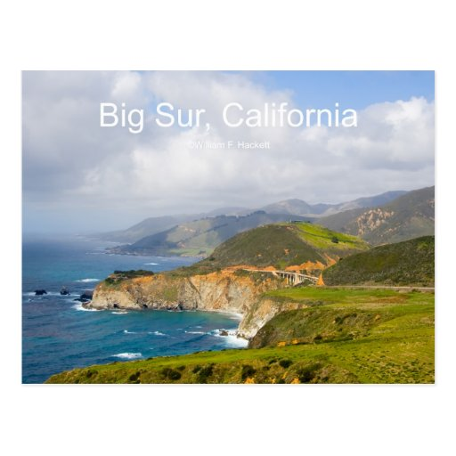 Big Sur 0033 California Products Postcard