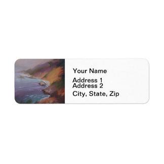 Big Sur California Coast Cliffs Label
