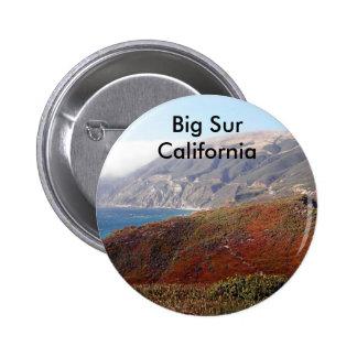 Big Sur, California landscape Pinback Buttons