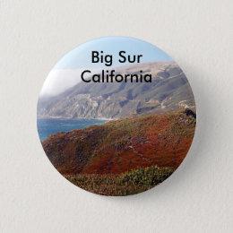 Big Sur, California landscape Pinback Button