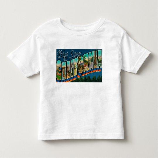 Big Sur, California - Large Letter Scenes Toddler T-shirt