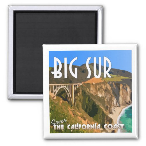 Big Sur California Pacific Coast Highway Magnet