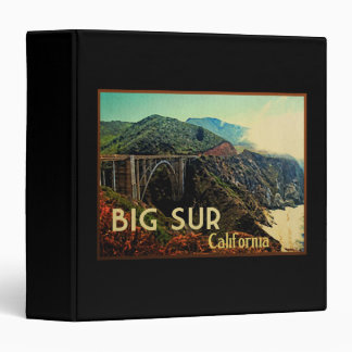 Big Sur California Vintage 3 Ring Binder