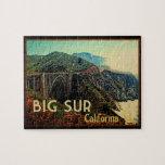 Big Sur California Vintage Jigsaw Puzzle