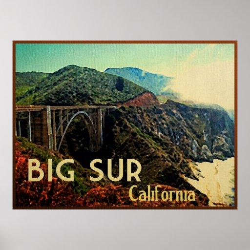 Big Sur California Vintage Poster