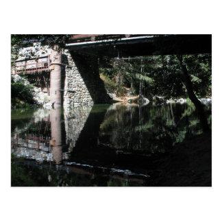 Big Sur Campground - Water Under A Bridge Postcard