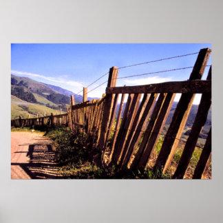 Big Sur Fence Poster