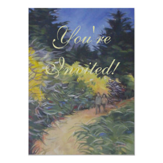 Big Sur Nature Path Scenic Woods California Card