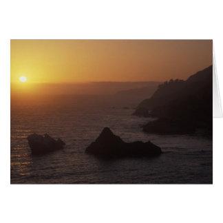 Big Sur off Highway 101, California, USA Card