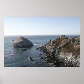Big Sur Rock Poster
