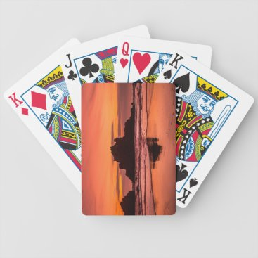 Beach Themed Big Sur Sunset Bicycle Playing Cards