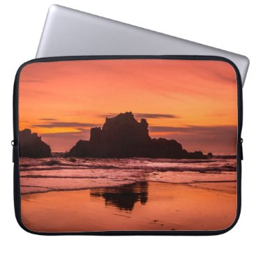 Beach Themed Big Sur Sunset Computer Sleeve
