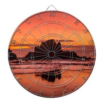 Beach Themed Big Sur Sunset Dartboard