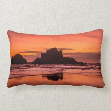 Beach Themed Big Sur Sunset Lumbar Pillow