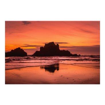Beach Themed Big Sur Sunset Photo Print