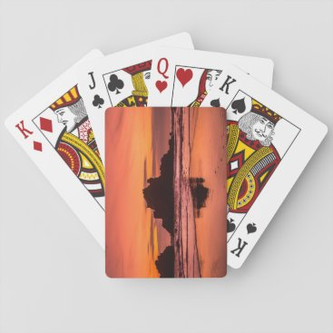 Beach Themed Big Sur Sunset Playing Cards