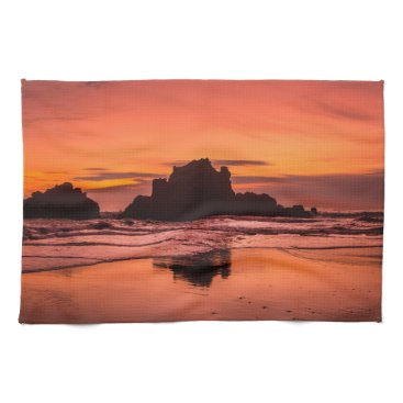 Beach Themed Big Sur Sunset Towel