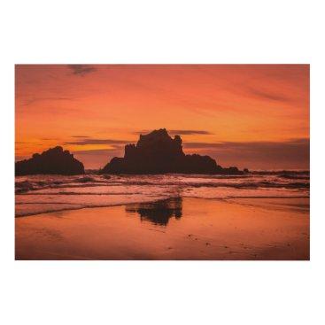 Beach Themed Big Sur Sunset Wood Wall Decor