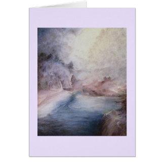 Big Sur Waterfall in Fog Card