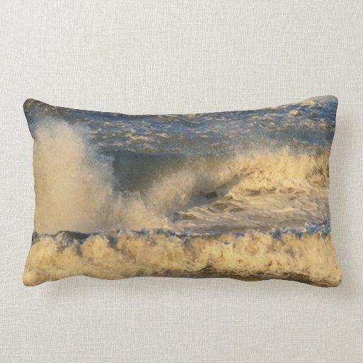 Big Surf at Sunrise Pillows