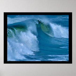 Big Surf Ocean Wave Poster