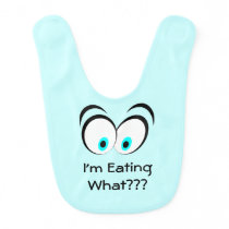 Big Surprised Eyes Funny Baby Bib