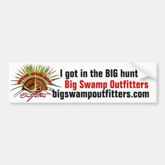Big Swamp Bumper Sticker Car Bumper Sticker