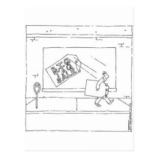 big tag sale postcard