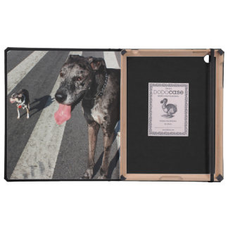 Big & Tall, Photo of Great Dane & Chihuahua Dogs iPad Cover