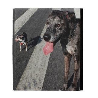 Big & Tall, Photo of Great Dane & Chihuahua Dogs iPad Folio Covers
