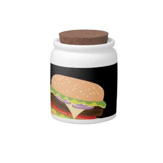Big Tasty Burger and Hands3 Candy Jar