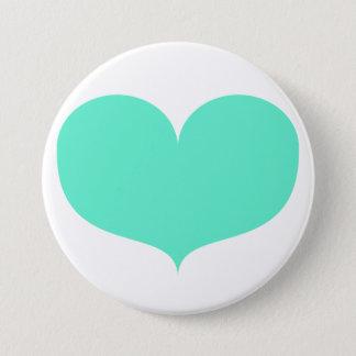 Big Teal Heart Button