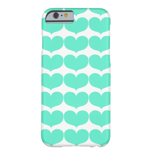 Big Teal Heart iPhone 6/6s Barely There Phone Case