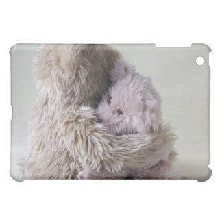 big teddy bear holds little bear ipad case